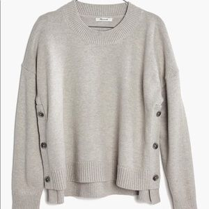 Madewell side button sweater